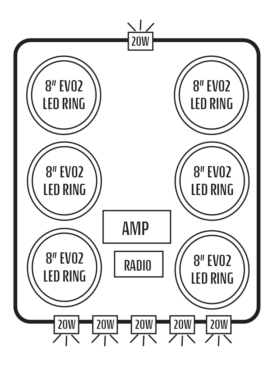 commander  maverick stereo tops